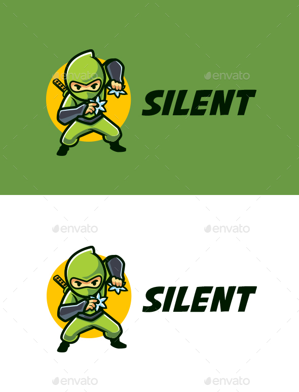 Silent Ninja Mascot Logo