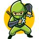 Silent Ninja Mascot Logo - GraphicRiver Item for Sale
