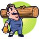 The Carpenter Mascot Logo - GraphicRiver Item for Sale