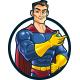 Superhero Service Mascot Logo - GraphicRiver Item for Sale