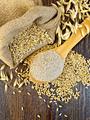 Bran flakes oat in spoon on board top - PhotoDune Item for Sale