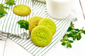 Cookies mint with napkin on board - PhotoDune Item for Sale