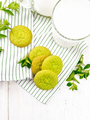 Cookies mint with napkin on board top - PhotoDune Item for Sale