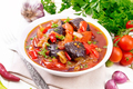 Ragout vegetable with eggplant on light board - PhotoDune Item for Sale