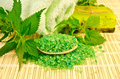 Salt and homemade soap with nettles - PhotoDune Item for Sale