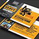 Construction Heavy Equipment Business Card - GraphicRiver Item for Sale