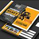 Construction Heavy Equipment Postcard - GraphicRiver Item for Sale