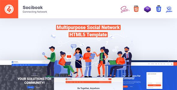 Socibook | Multipurpose Social Network HTML5 Template