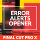 Error Messages Glitch Opener for Final Cut Pro X - VideoHive Item for Sale