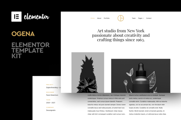 Ogena - Minimal Elementor Template Kit