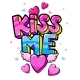 Kiss Me Lettering and Winged Heart - GraphicRiver Item for Sale