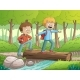 Boys Walking Through The Forest - GraphicRiver Item for Sale
