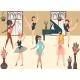 Dancer Ballerinas School Modern Classic Dance - GraphicRiver Item for Sale
