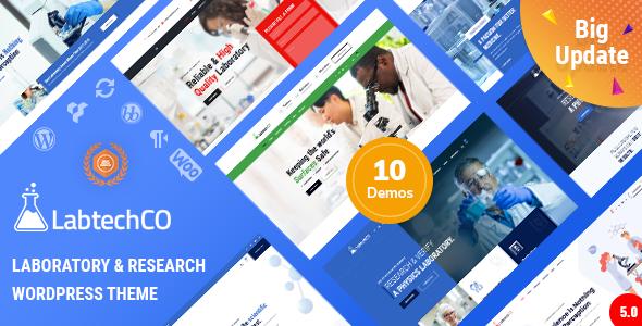 LabtechCO | Laboratory & Science Research WordPress Theme, Gobase64