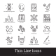 Biotech Medical Laboratory Science Linear Icon - GraphicRiver Item for Sale