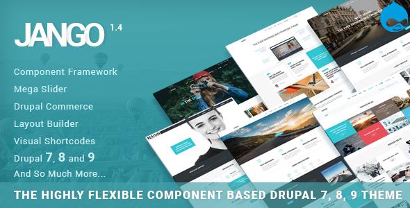 Jango   Wysoce elastyczny motyw Drupal 7 i 8 oparty na komponentach