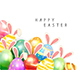 Set of Easter Eggs with Rabbit Ears on White Background - GraphicRiver Item for Sale