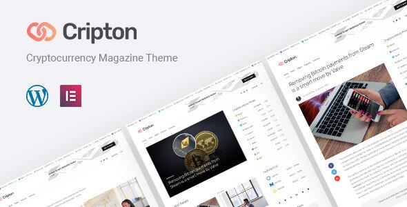 Cripton   Cryptocurrency Elementor Magazine WordPress Theme