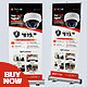 Roll Up Banner - CCTV Product - GraphicRiver Item for Sale