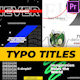 Typo Titles - VideoHive Item for Sale