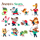 Animals Sports Character - GraphicRiver Item for Sale