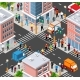 Isometric People Walking on the Street - GraphicRiver Item for Sale