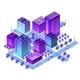 Isometric City Set of Violet Colors Building - GraphicRiver Item for Sale