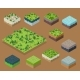 Set Isometric 3d Trees Forest Nature Elements - GraphicRiver Item for Sale