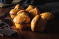 Vanilla muffins. Sweet cupcakes with chocolate and vanilla pods. - PhotoDune Item for Sale