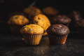 Chocolate and vanilla muffins. Sweet cupcakes. - PhotoDune Item for Sale