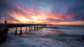 Fiery Sunset at Pacifica Municipal Pier - PhotoDune Item for Sale