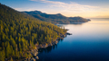 Aerial View of Lake Tahoe Shoreline with Mountains and Turquoise Blue Waters - PhotoDune Item for Sale