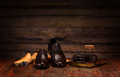 Still life with men's leather shoes - PhotoDune Item for Sale