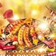 Steak Barbeque BBQ Food Flyer - GraphicRiver Item for Sale
