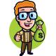 Money Saving Geek Mascot Logo - GraphicRiver Item for Sale