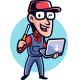 Tech Geek Mascot Logo - GraphicRiver Item for Sale