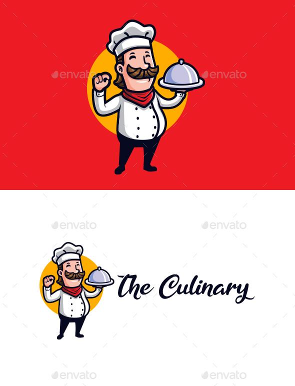 The Culinary - Chef Mascot Logo