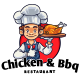 Chicken And BBQ Chef Mascot Logo - GraphicRiver Item for Sale