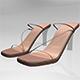Square-Toe Chunky-Heel Slide Sandals 01 - 3DOcean Item for Sale
