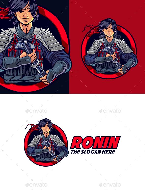 Young Ronin Mascot Logo