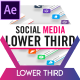 Unicolor Social Media Lower Thirds - VideoHive Item for Sale
