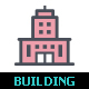 50 Home & Building Color Icon - GraphicRiver Item for Sale