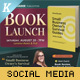 Book Launch Social Media Template Pack - GraphicRiver Item for Sale