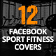 12 Facebook Sport Fitness Covers - GraphicRiver Item for Sale