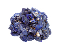 rough Azurite mineral crystals isolated on white - PhotoDune Item for Sale