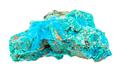 rough Chrysocolla rock isolated on white - PhotoDune Item for Sale