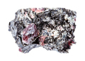 rough red Garnet crystals in Biotite rock isolated - PhotoDune Item for Sale