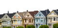 Isolated Victorian Terrace Houses - PhotoDune Item for Sale
