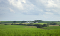 Rural landscape with farms and fields in southern Minnesota on a sunny afternoon - PhotoDune Item for Sale