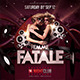Femme Fatale Flyer Template - GraphicRiver Item for Sale